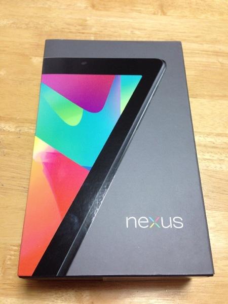 Nexus 7購入。Googleから3日で届いたよ。