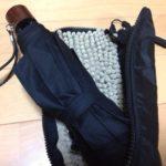 濡れたままでも傘を鞄に。吸水してくれるドライ傘ケースがオススメ