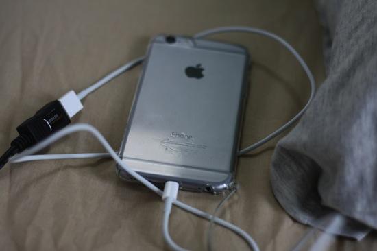 手持ちのiPhone充電用Lightningケーブルを延長して活用