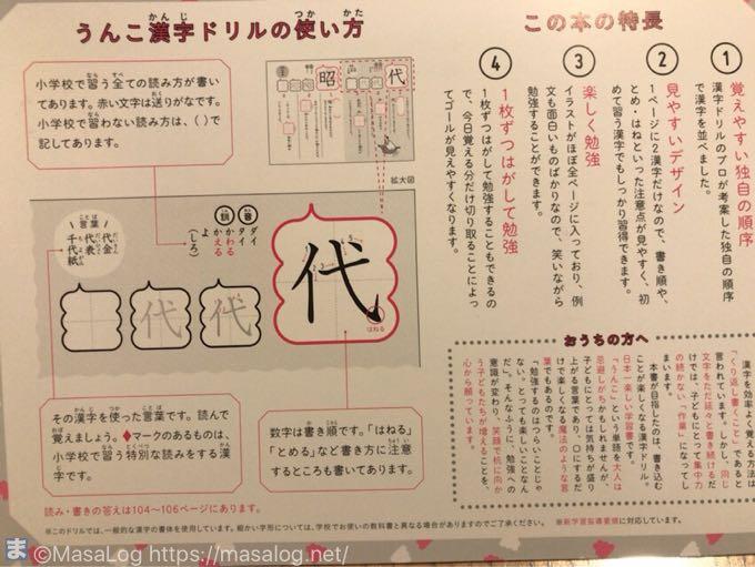 漢字ドリルの使い方ページ