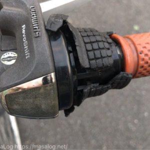 ボロボロになった自転車のグリップシフトを交換