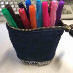 「DELDE (デルデ )」大量のペンの持ち運びに便利なスライドポーチ型ペンケース