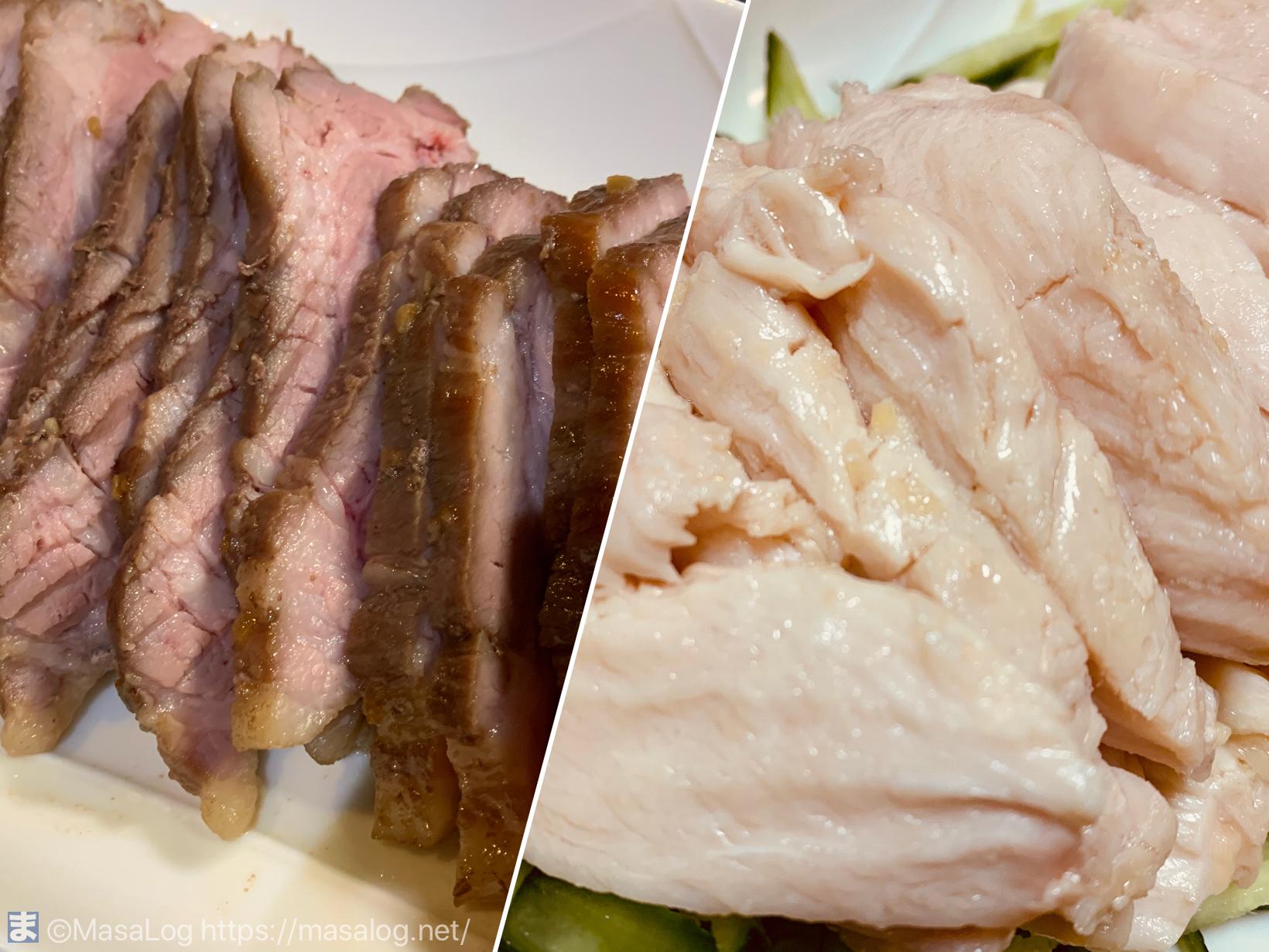 焼き豚と鶏胸肉
