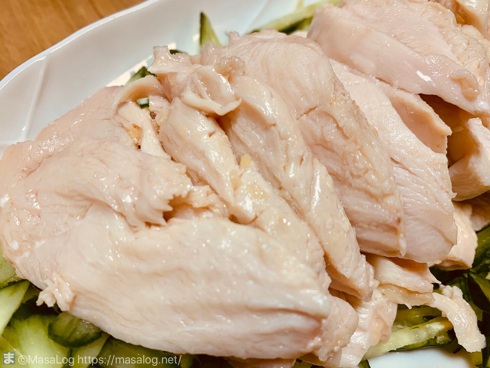 鶏胸肉も驚くほどしっとりして柔らかい